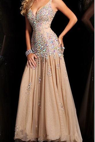 dress champagne prom dress v neck prom dresses luxury prom dresses chiffon panel sexy prom dress mermaid prom dress