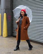 mimi & chichi blog,blogger,bag,coat,jeans,sweater,shoes,hat,umbrella,beanie,brown coat,grey sweater,plus size jeans,curvy,plus size