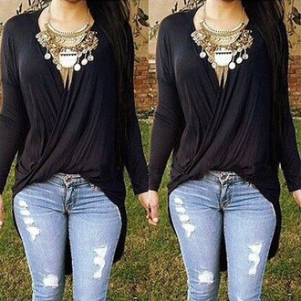 cardigan top boho chic black denom denim jewels streetwear rose wholesale boho chic streetstyle casual style stylish bohemian classy casual chic trendy blouse