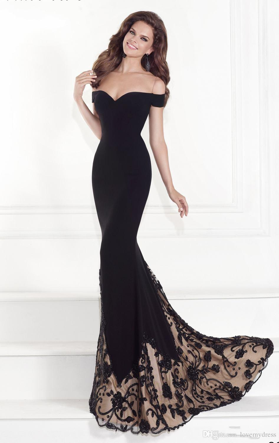 Black Prom Dresses Appliques Elegant Amazing Designer Mermaid Trumpet Prom Dress Off Shoulder Cheap Party Dresses 2016 Inexpensive Buy Prom Dresses Camille Prom Dresses From Lovemydress, $76.36| Dhgate.Com