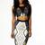 Gray Gold Tribal Bandage Dress H576$79