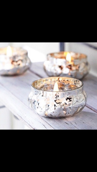 home accessory candle silver classy