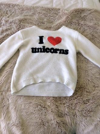 sweater i love unicorns