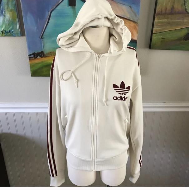 jacket cream burgundy adidas adidas sweater