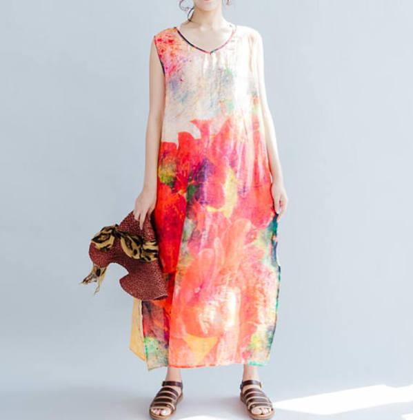 dress sleeveless long dress