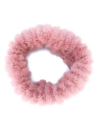 cape fur women wool purple pink top