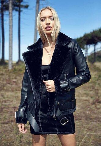 jacket leather leather jacket biker jacket black black jacket