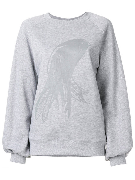Ioana Ciolacu sweatshirt oversized women cotton grey sweater