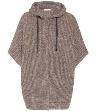 cardigan wool brown sweater
