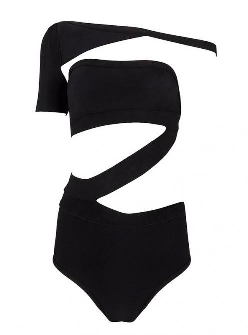 Black Sexy Cut Out Jumpsuit Bandage Bikini H929$89