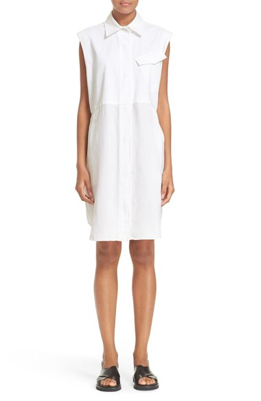 T by Alexander Wang Twill Military Shirtdress   Nordstrom