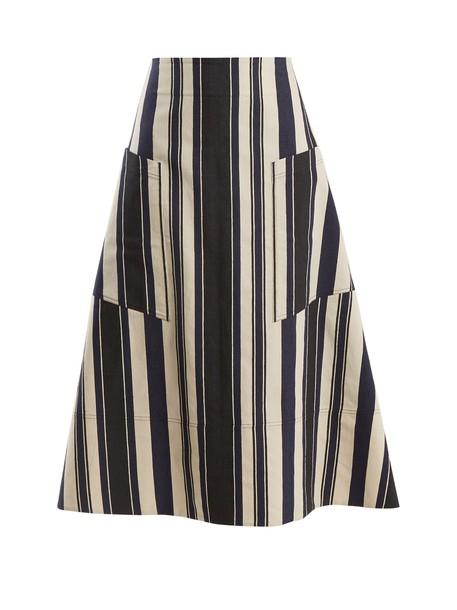 ZEUS + DIONE skirt silk navy