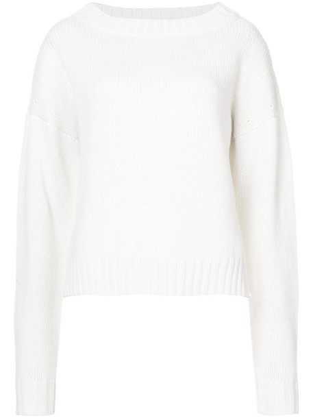 DEREK LAM sweater cropped sweater cropped women white cotton
