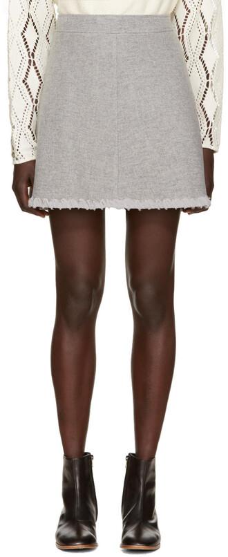 skirt chiffon skirt chiffon grey