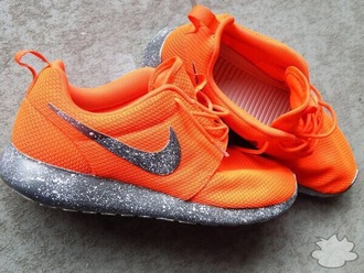 shoes nike running shoes workout shoes orange shoes