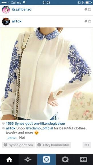 blue skirt blouse