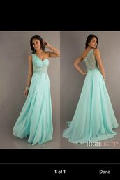 dress,mint dress,prom dress,long prom dress,formal dress,formal,clothes,floor lenth dresses,one shoulder dresses,open back dresses,turquoise,prom,homecoming,long dress,sequins,one shoulder dress,aqua,baby blue,long bridesmaid dress,blue dress,blue prom dress
