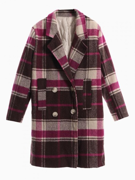 tartan plaid coat Choies choies coats