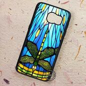phone cover,dragonfly,stained glass,samsung galaxy cases,samsunggalaxys4,samsunggalaxys5,samsunggalaxys6,samsunggalaxys6edge,samsunggalaxys6edgeplus,samsunggalaxynote3,samsunggalaxynote5,samsunggalaxys7,samsunggalaxys7edge,samsunggalaxys7edgeplus