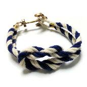 jewels,bracelets,navy style,hand knit