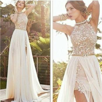 Aliexpress.com : Buy 2015 Spring Summer Sexy White Chiffon Beads ...