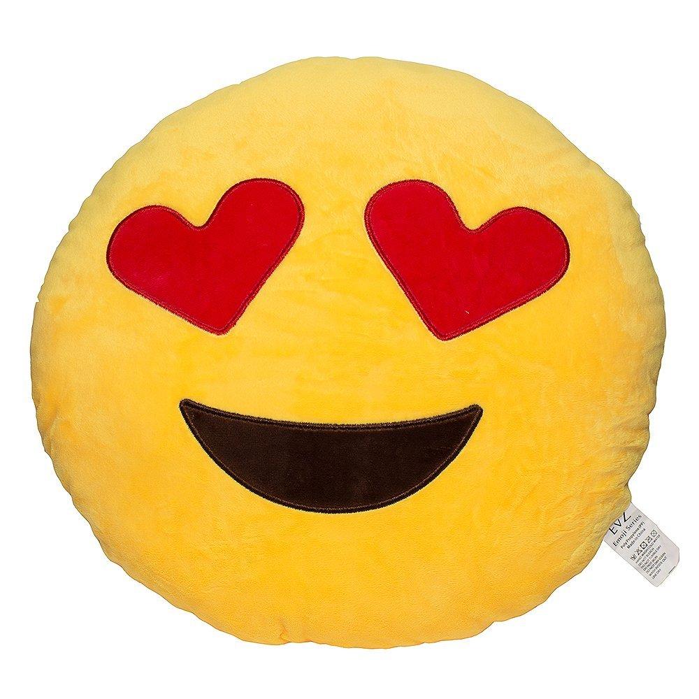 Amazon.com - 32cm Emoji Smiley Emoticon Yellow Round Cushion Pillow Stuffed Plush Soft Toy -