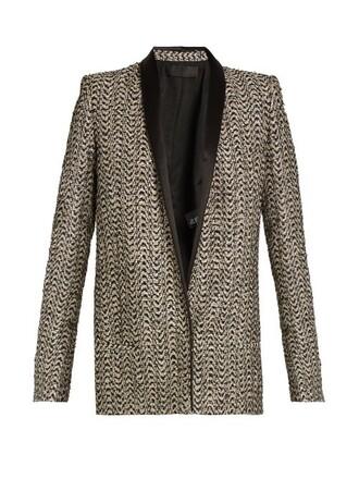 jacket metallic gold