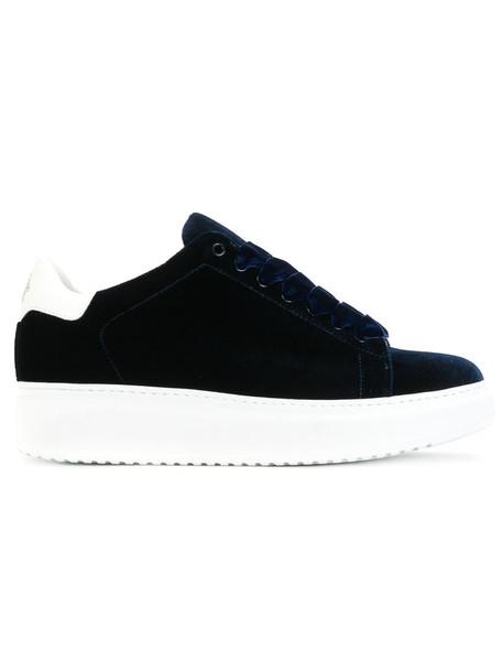 Steve's women sneakers leather blue velvet shoes