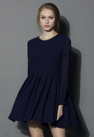 dress chicwish sheer back pleated