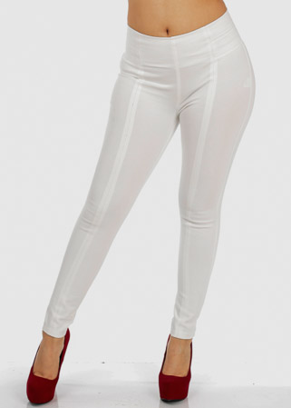White High Waist Skinny Pants