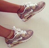 air max,jewels,snake patten,beige,nike air,snake skin,nike snakeskin,nike air max 90,snake print shoes,crocodile,nike air force,sneakers,shoes,snake skin nike air max,croc skin air max,grey and beige,nike shoes