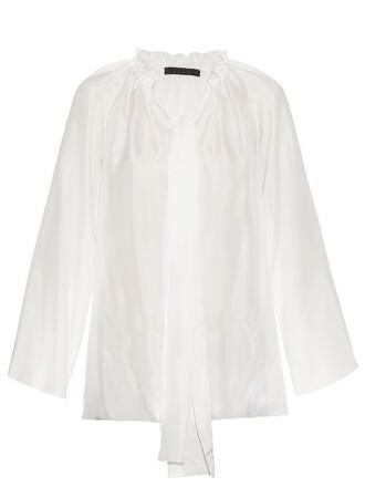 top drawstring silk