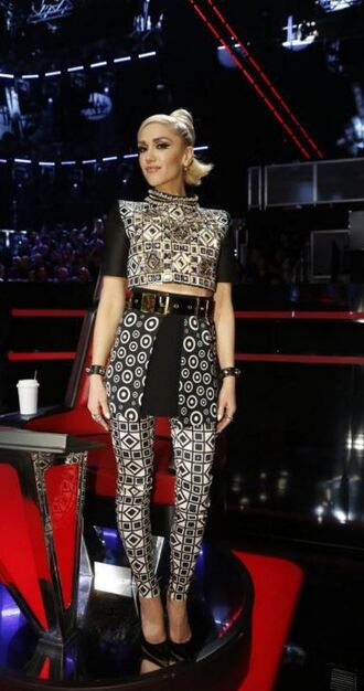 pants top skirt crop tops gwen stefani leggings embellished top