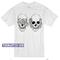 Hear see no evil skull t-shirt - teenamycs