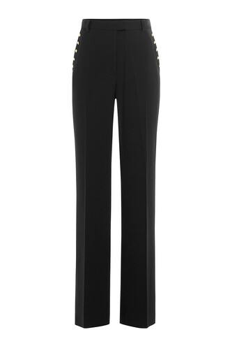 pants high wool black