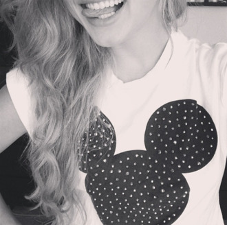 disney mickey mouse black and white t-shirt shirt