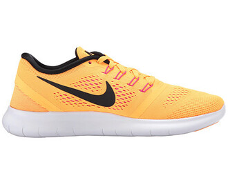 shoes nike shoes yellow sneakers nike