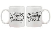 home accessory,beast,beuaty,beauty and beast,couple mug,gift for valentine,gift ideas,every beauty needs a beast,every beast needs a beauty