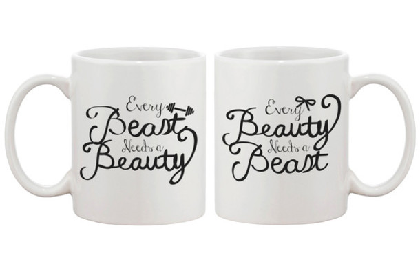 Home Accessory Beast Beuaty Beauty And Beast Couple Mug Gift