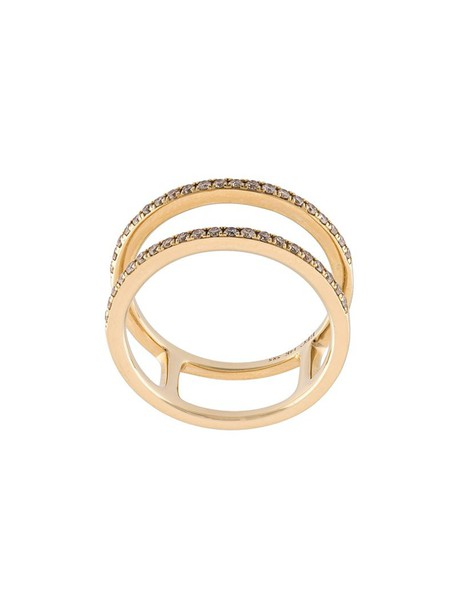 EF COLLECTION women ring gold yellow orange jewels