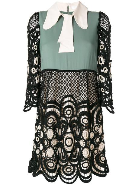 Chloe dress lace dress women lace black silk wool