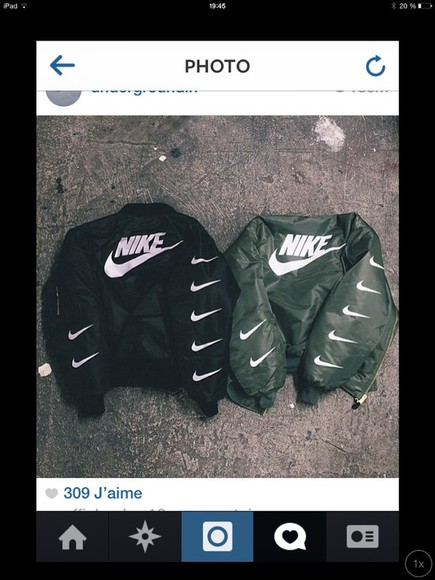 black jacket kaki vest nike fashion bomber jacket