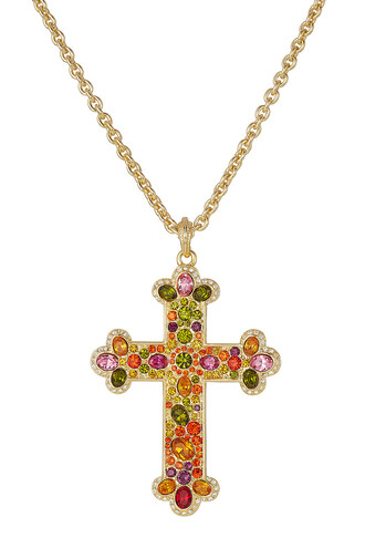 cross necklace cross necklace multicolor jewels