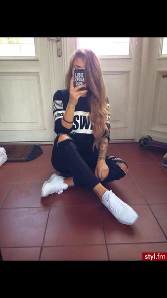 shirt black swag america white