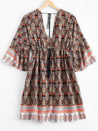 dress trendy summer boho style ethnic fashion pattern festival dressfo