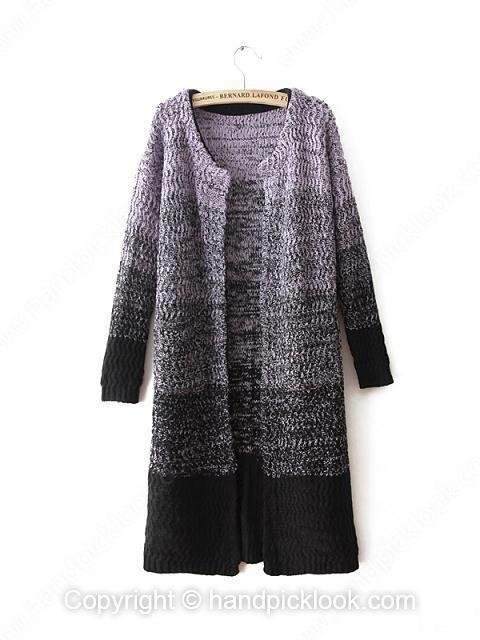 Purple Long Sleeve Knit Top - HandpickLook.com