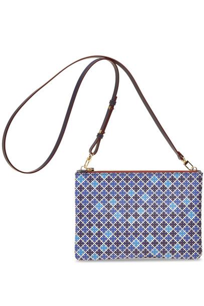 purse leather blue bag