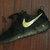 Nike Roshe One Run Black Gold Splatter Custom Women & Men
