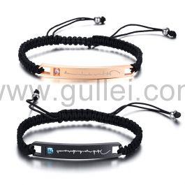 Heartbeat Couple Promise Bracelets Birthday Gift
