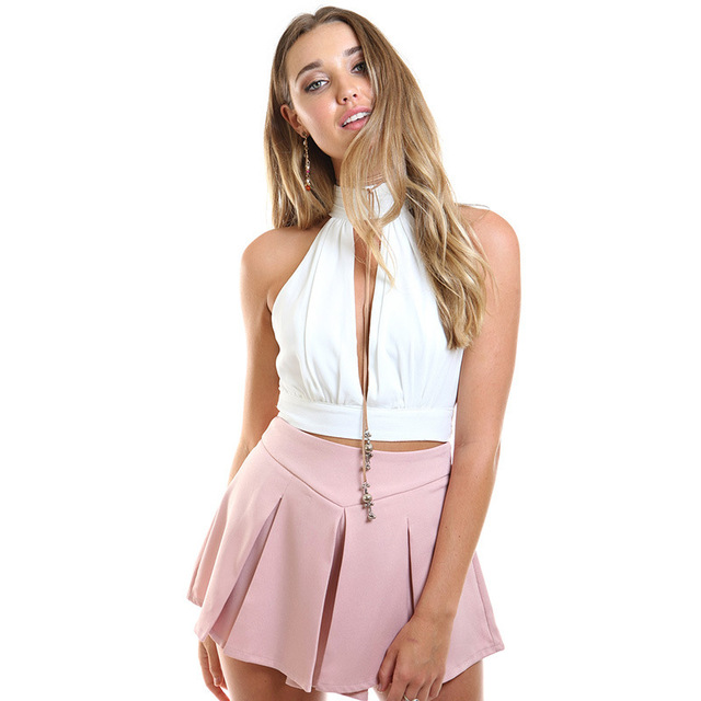 Aliexpress.com : Buy Hot Style 2016 Summer Women Tops Deep V neck Sexy Tank Tops Backless Lace Chiffon Short Tank Tops from Reliable tank top suppliers on Fashion Sunlight
